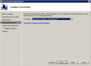 hyper-v wizard - configure network