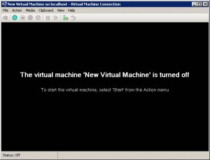 hyper-v first launch