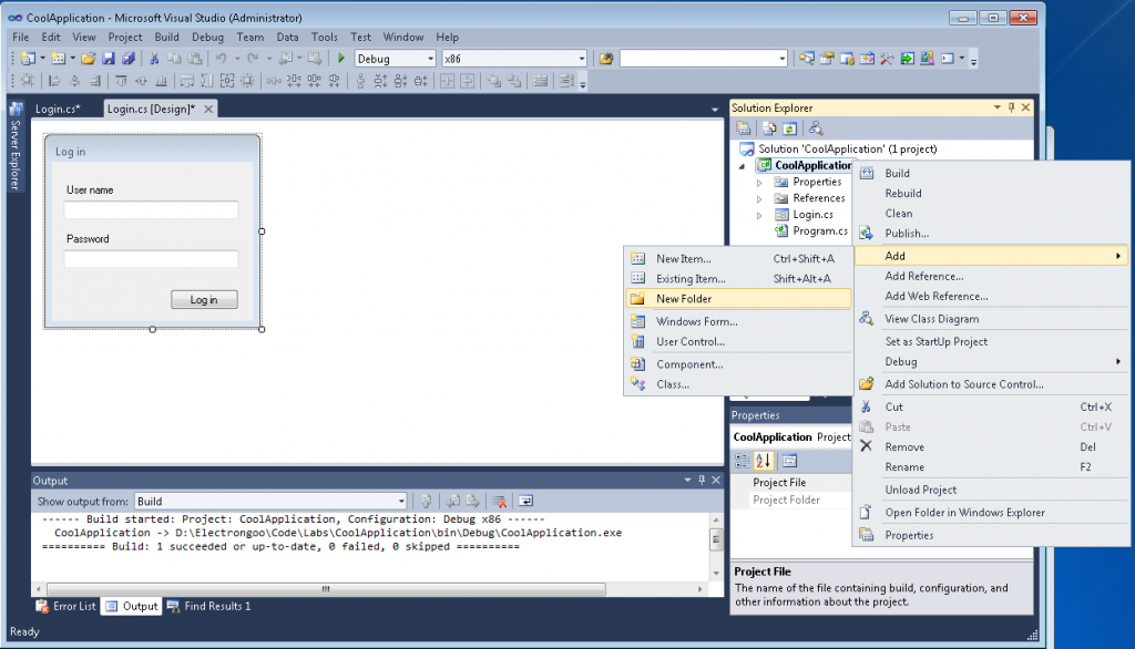 Create resource folder in Visual Studio